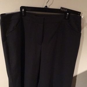 NWT Nicole Miller dk charcoal Easy Care Pant sz 18